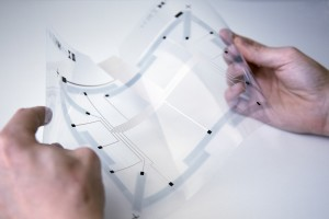 Sensitive, flexible Folie für Touchdisplays. © Joanneum Research