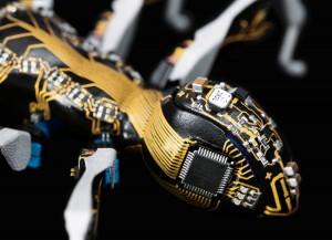 Die Körper und Beine der BionicANTs von Festo wurden im 3D-Druck hergestellt. Durch den LPKF ProtoPaint LDS-Lack lassen sich elektronische Komponenten und Leiterbahnen direkt auf der Außenhaut unterbringen. © Festo AG & Co. KG