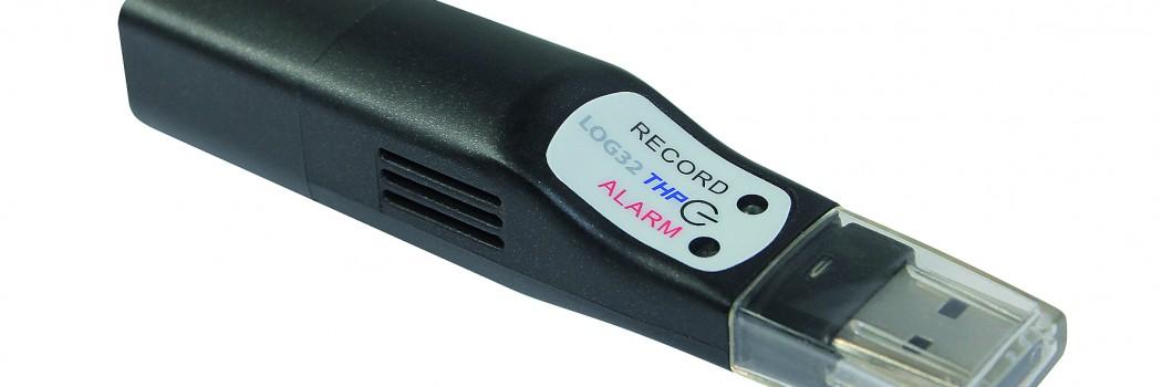 LOG 32THP Datenlogger für Temperatur-, Feuchte- und Luftdruckmessung