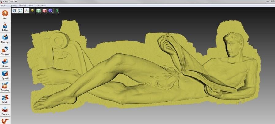 """3D-Modell des """"Lesers"""" in Artec Studio Quelle: Artec 3D"""