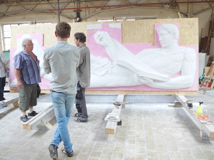 "Gipsmodell des Reliefs ""Der Leser"" Quelle: Artec 3D"