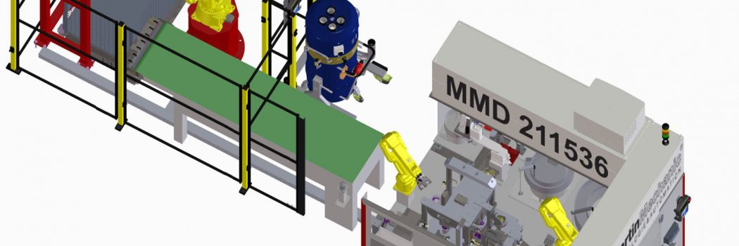 Bei Gleitlager-Montage helfen vier Roboter