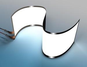 """Flexibilität bestimmt zukünftig viele Lebensbereiche. Neben dem Einsatz von OLED-Modulen in unterschiedlichen Displays wird das flächige """"warme"""" Licht, das die Augen nicht blendet, in falt- oder aufrollbaren Bildschirmen schon bald keine Utopie mehr sein. (Abbildung: tesa)"""