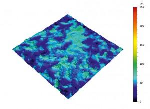 Bild 4 a, b:200 bis 400 Einzelbildern werden von Messsoftware in ein dreidimensionales Höhenbild umgewandelt. (Foto: NanoFocus)