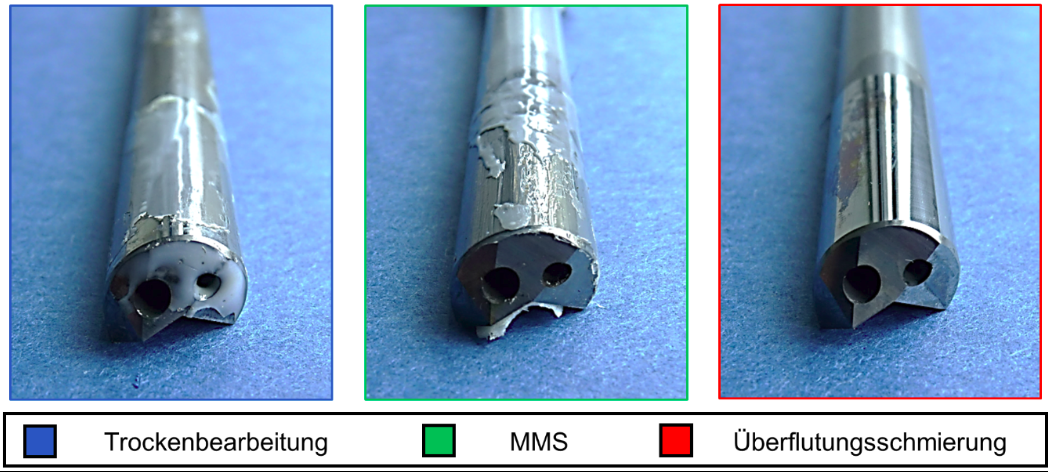 Abbildung 4: Werkzeugverschleiß in Anhängigkeit vom eingesetzten KSS-Konzept