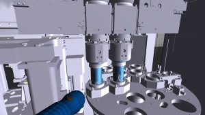 © Foto Fraunhofer IFF Im virtuellen Modell der Honmaschine wird Schritt für Schritt erklärt, worauf man bei der Sichtkontrolle achten muss.