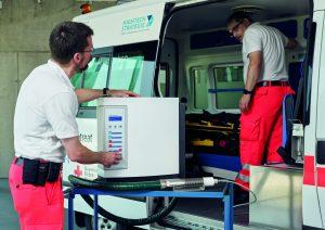 as neu entwickelte mobile Plasma-Dekontaminationssystem (MoPlasDekon) ist in der Lage, im Katastropheneinsatz die Innenräume ganzer Krankentransportwagen chemiefrei zu desinfizieren