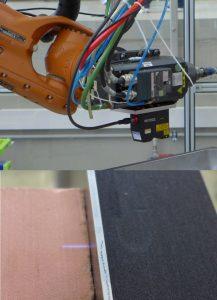 Bahnkorrektur für Kantenbearbeitung  durch Linienlaser