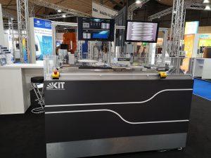 Demonstration des am KIT entwickelten Systems zur vollautomatischen Verschleißkontrolle von Kugelgewindetrieben mithilfe von Künstlicher Intelligenz.