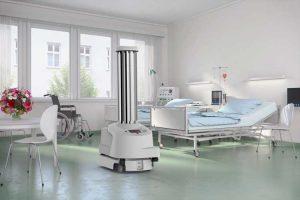 Roboter spielen eine wichtige Rolle bei der Oberflächendesinfektion in Krankenhäusern