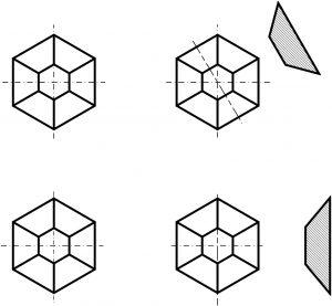 Abbildung 2. Design mit definierten sechseckigen Pyramiden auf Hartmetall-Werkzeugoberflächen.