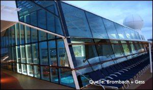 Abbildung 1: Scheibenklebungen im Kreuzfahrtschiffbau