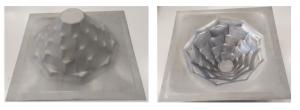 Abbildung 1: Tiefziehblech DC06 s0=0,8 mm; β=55°; Drücktiefe 100 mm
