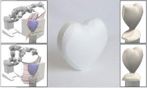 RoboCut kann auch Herzen schnitzen. (Bilder: The Computational Robotics Lab)