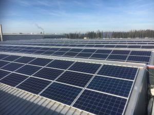 PV-Anlage auf den Dächern der HAI in Ranshofen