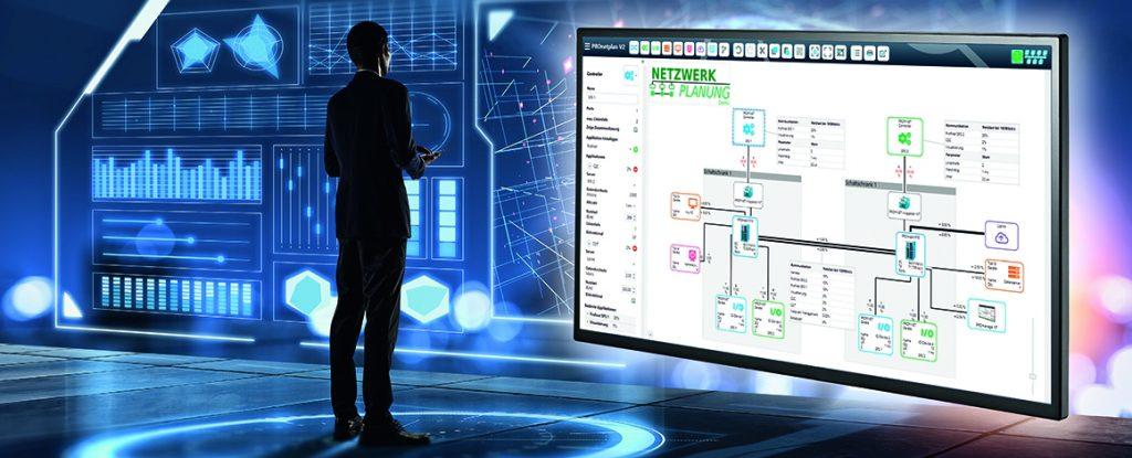 Bild 1: Nur mit einer ganzheitlichen Netzwerkplanung kann eine durchgängige Digitalisierung durchgeführt werden. (Urheber: areebarbar/adobe.stock.com/)