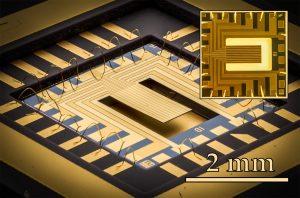 Abbildung 1: MEMS Sensor mit angepasstem Elektrodendesign, um spezielle mechanische Schwingungsmoden effizient anzuregen