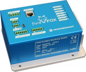 Abbildung 1: fluidFOX, der kompakte Fluidanalysator von Micro Resonant für den industriellen Einsatz.